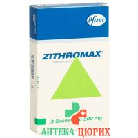 Зитромакс гранулы 500 мг 3 пакетика