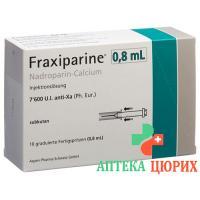 Фраксипарин 0,8 мл 10 предварительно заполненных шприцев по 0,8 мл