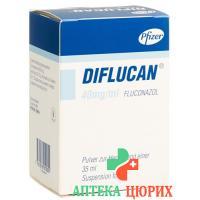 Дифлюкан Форте порошок для приготовления суспензии 40 мг/мл флакон 35 мл