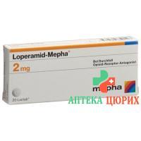 Лоперамид Мефа 2 мг 60 таблеток покрытых оболочкой