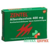 Зентел 400 мг 1 жевательная таблетка