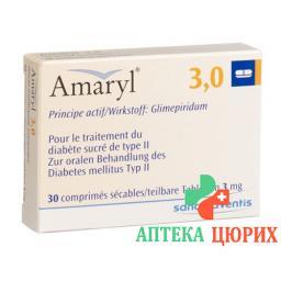 Амарил 3 мг 30 таблеток