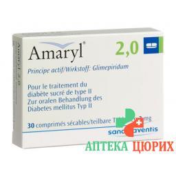 Амарил 2 мг 30 таблеток