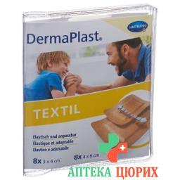 Dermaplast Textil Centro 16 пластырей