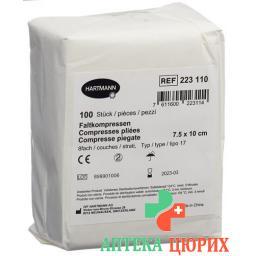 IVF Faltkompressen Typ 17 8-fach 7.5x10см 100 штук