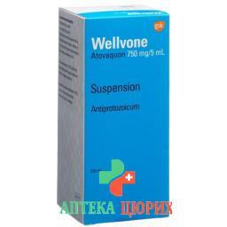 Веллвон суспензия 750 мг / 5 мл флакон 210 мл