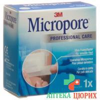 3M Micropore Vlies Heftpflaster ohne диспенсер 25мм x 5m weiss