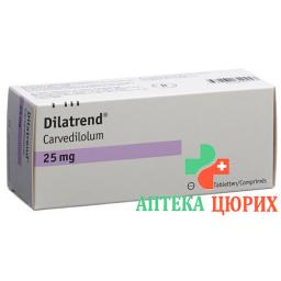 Дилатренд 25 мг 100 таблеток