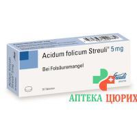 Фолиевая кислота 5 мг 20 таблеток