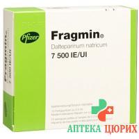 Фрагмин раствор для инъекций 7500 МE / 0,3 мл 10 предварительно заполненных шприцев по 0,3 мл