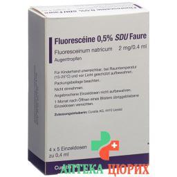 Флуоресцеин глазные капли 0,5% 20 монодоз по 0,4 мл