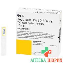 Тетракаин 1% 20 монодоз 0.4 мл глазные капли