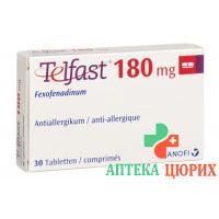 Телфаст 180 мг 30 таблеток