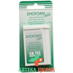 Emoform Zahnhoelzer Mint 100 штук