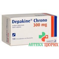 Депакин Хроно 300 мг 100 таблеток покрытых оболочкой (делимые)