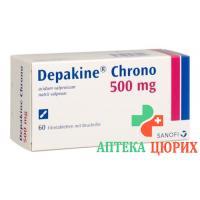 Депакин Хроно 500 мг 60 таблеток покрытых оболочкой