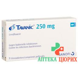 Таваник 250 мг 7 таблеток