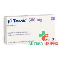 Таваник 500 мг 5 таблеток