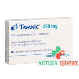 Таваник 250 мг 10 таблеток