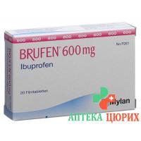 Бруфен 600 мг 20 таблеток покрытых оболочкой