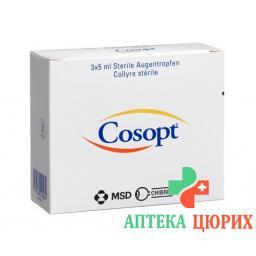 Косопт глазные капли 2% стерильные 3 x 5 мл