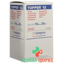 Topper 12 Einmal-Kompressen 10x20см стерильный 35 пакетиков a 2 штуки