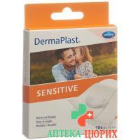 Dermaplast Sensitive Schnellverband Weiss 8x10см 10 штук