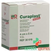 Curaplast повязка для ран 4смx5m телесный цвет рулон