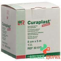 Curaplast повязка для ран 8смx5m телесный цвет рулон