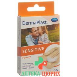 Dermaplast Sensitive Family 32 пластыря