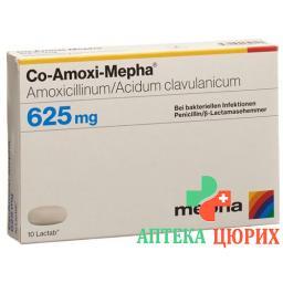 КО Амокси Мефа 625 мг 20 таблеток покрытых пленочной оболочкой