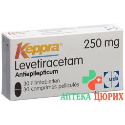 Кеппра 250 мг 30 таблеток покрытых оболочкой