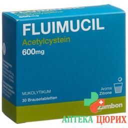 Флуимуцил 600 мг 30 растворимых таблеток