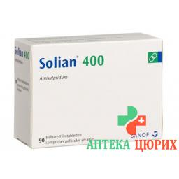 Солиан 400 мг 90 таблеток покрытых оболочкой