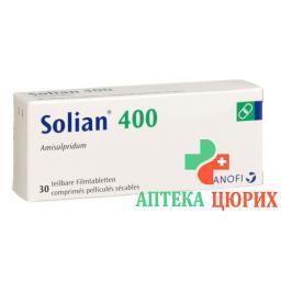 Солиан 400 мг 30 таблеток покрытых оболочкой