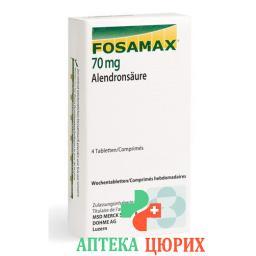 Фосамакс 70 мг 4 еженедельные таблетки
