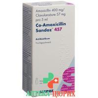 Ко-Амоксициллин Сандоз порошок 457 мг для приготовления суспензии флакон 70 мл