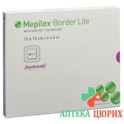 Mepilex Border Lite Silkonschaumve 15x15см 5 штук