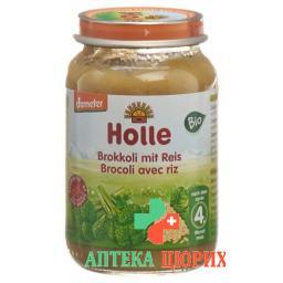 Holle Brokkoli Vollkorn Reis nach 4 Monaten Bio 190 g