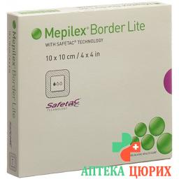 Mepilex Border Lite Silkonschaumve 10x10см 5 штук