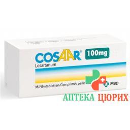 Козаар 100 мг 98 таблеток покрытых оболочкой