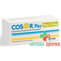 Козаар Плюс 50/12.5 мг 98 таблеток покрытых оболочкой