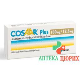 Козаар Плюс 100/12.5 28 таблеток покрытых оболочкой