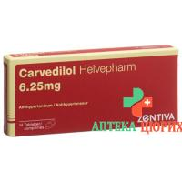 Карведилол Хелвефарм6,25 мг 14 таблеток