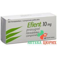 Эфиент 10 мг 98 таблеток покрытых оболочкой