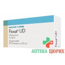 Флоксал УД глазные капли 0,3% 30 монодоз по 0,5 мл
