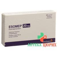 Эзомеп Мупс 20 мг 28 таблеток