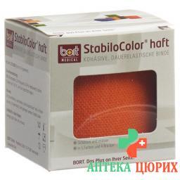 Bort Stabilo Color бинт 6смx5m Kohesiv Orange