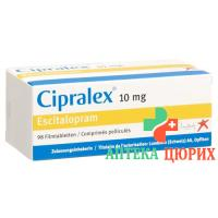 Ципралекс 10 мг 98 таблеток покрытых оболочкой