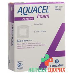 Aquacel Foam 8x8см Adhesive 10 штук